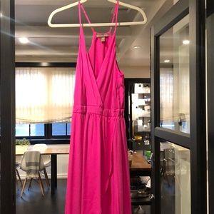 Nearly New Pink Maxi Dress, Super Flattering